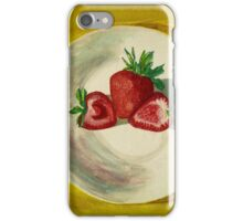 Water color of strawberries iPhone Case/Skin
