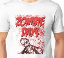 Zombie Days Red Unisex T-Shirt