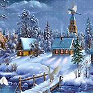 Critter winter scene by NewfieKeith