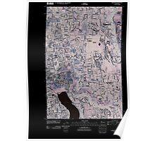 USGS Topo Map Washington State WA Redmond 20110422 TM Inverted Poster