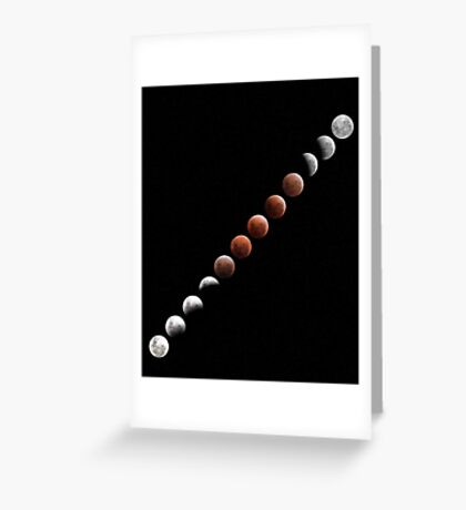 Lunar Eclipse - December 10 2011 Greeting Card