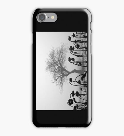 In the Midst of the Crowd iPhone Case/Skin