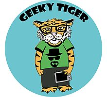 Geeky Tiger In a Bubble Photographic Print
