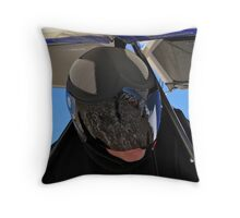Waiting to Launch Throw Pillow