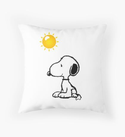 Happy snoopy Throw Pillow