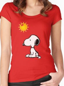 Happy snoopy Women's Fitted Scoop T-Shirt