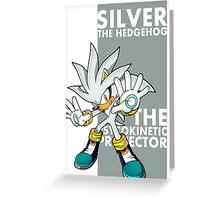 Silver The Hedgehog Greeting Card