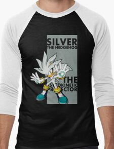 Silver The Hedgehog Men's Baseball ¾ T-Shirt