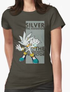 Silver The Hedgehog Womens Fitted T-Shirt