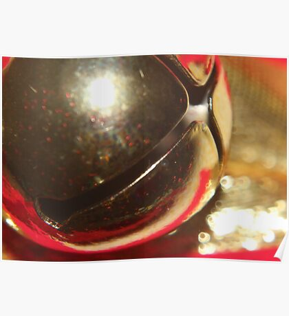 Christmas Bell Abstract Poster