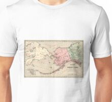 Vintage Map of Alaska and Russia (1869) Unisex T-Shirt
