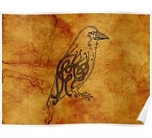 Knotwork Raven Natural Poster