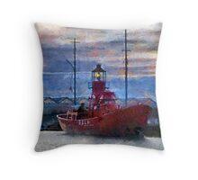 Lightship Sula, Dusk, Gloucester Docks, UK Throw Pillow