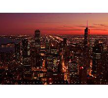 Chicago - a bird's-eye view Photographic Print