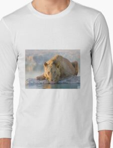 The Thirsty Lion - Etosha NP Africa Long Sleeve T-Shirt