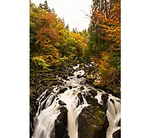 Black Linn Waterfall ~ Perthshire Scotland Photographic Print