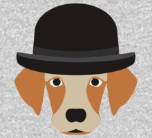 Dog Wearing a Bowler Hat One Piece - Long Sleeve