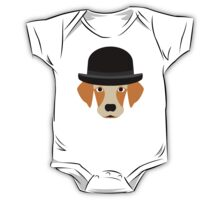 Dog Wearing a Bowler Hat One Piece - Short Sleeve