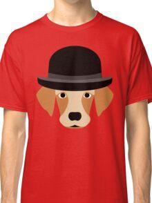 Dog Wearing a Bowler Hat Classic T-Shirt