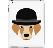 Dog Wearing a Bowler Hat iPad Case/Skin