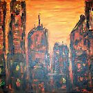 Metropolis Sunset by Mary Sedici