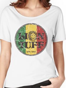 Lion Tuff VNTG CRCL Women's Relaxed Fit T-Shirt