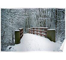 Bridge between white worlds Poster