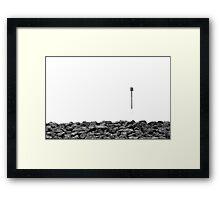 Isolation - Reculver Framed Print