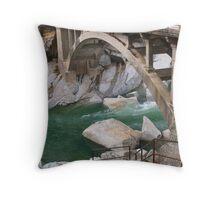 American river bridge Throw Pillow