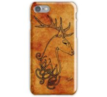 Knotwork Stag Natural iPhone Case/Skin