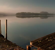 Foggy Summer Morning - Nambucca Heads by Stuart Cox