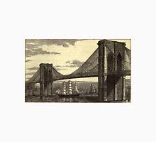 Vintage Illustration of The Brooklyn Bridge (1879) T-Shirt