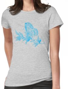 Gazing Butterfly Womens Fitted T-Shirt