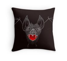 Flying Vampire Bat likes you a lot Throw Pillow