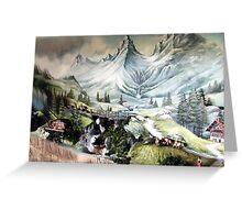 ⊱✿ ✿⊰⊹SWISS MOUNTAIN SIDE⊱✿ ✿⊰⊹ Greeting Card