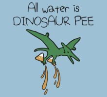 All Water Is Dinosaur Pee (Pterodactyl) Kids Tee