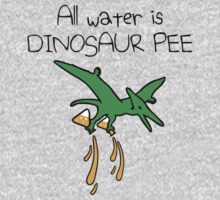 All Water Is Dinosaur Pee (Pterodactyl) One Piece - Long Sleeve