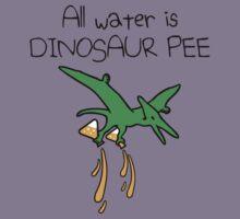 All Water Is Dinosaur Pee (Pterodactyl) Kids Tee