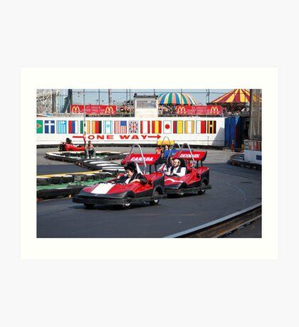 Coney Island Carts at NYC Art Print