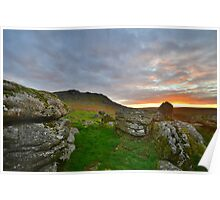 Dartmoor: Sunrise at Sheepstor Poster