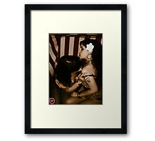Rockabella kiss 3 Framed Print