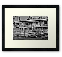 The Desert Sands Motel Framed Print
