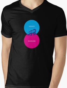 Honey Badger Venn Diagram Mens V-Neck T-Shirt