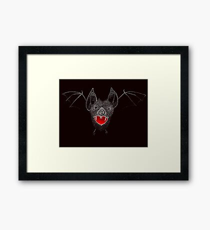 Flying Vampire Bat likes you a lot Framed Print