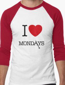 I Love Mondays- Castle Men's Baseball ¾ T-Shirt