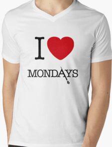 I Love Mondays- Castle Mens V-Neck T-Shirt