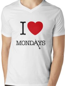 I Love Mondays- Castle Mens V-Neck T-Shirt