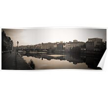 Florence on the River Arno Italy Poster