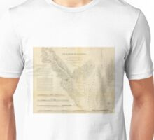 Vintage Map of Annapolis Harbor Maryland (1846) Unisex T-Shirt