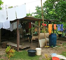 Local village, Port Vila, Vanuatu by Justine Wright